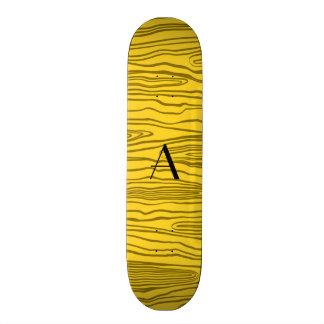 Bois amarelos do falso do monograma skates
