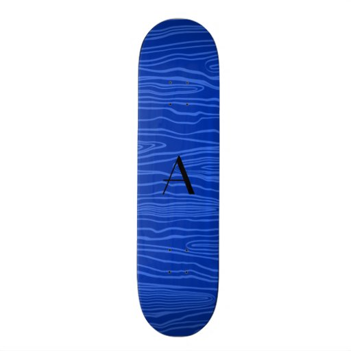 Bois azuis do falso do monograma skate