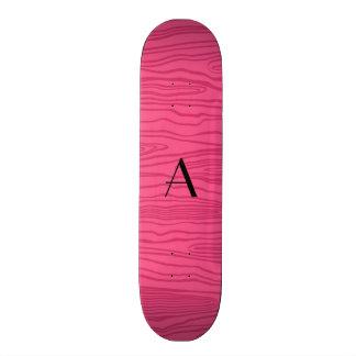 Bois cor-de-rosa do falso do monograma skates