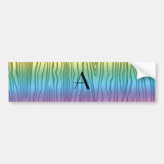Bois do falso do arco-íris do monograma adesivo
