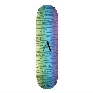 Bois do falso do arco-íris do monograma skates