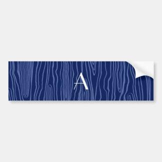 Bois do falso dos azuis marinhos do monograma adesivos