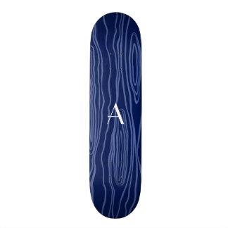 Bois do falso dos azuis marinhos do monograma skates personalizados