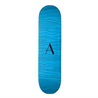 Bois do falso dos azul-céu do monograma skate boards