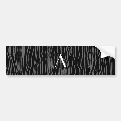Bois pretos do falso do monograma adesivo