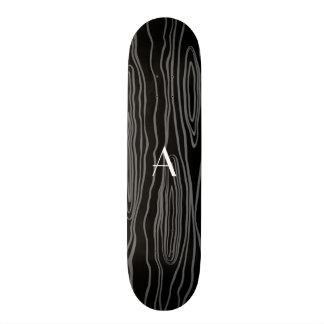 Bois pretos do falso do monograma skate boards
