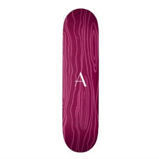 Bois roxos do falso da ameixa do monograma skate personalizado
