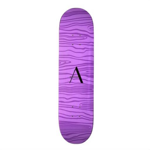 Bois roxos pastel do falso do monograma skates personalizados