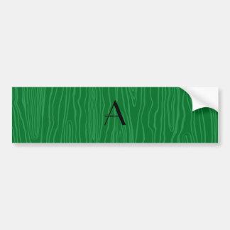 Bois verdes do falso do monograma adesivo