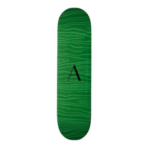 Bois verdes do falso do monograma skate