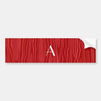Bois vermelhos do falso do monograma adesivo