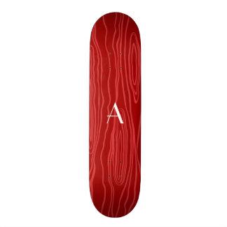 Bois vermelhos do falso do monograma skates