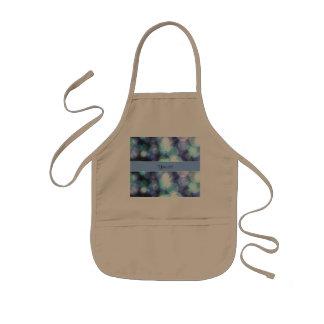 Bokeh azul avental infantil