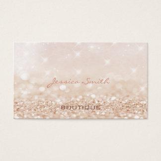 Bokeh elegante moderno glamoroso profissional cartão de visitas