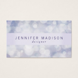 Bokeh Glam em cartões de visitas da lavanda  