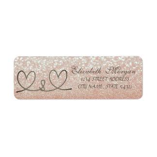 Bokeh Glittery elegante, etiqueta de endereço dos