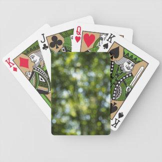 Bokeh no primavera baralhos de cartas