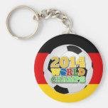 Bola 2014 dos campeões do mundo Alemanha Chaveiro