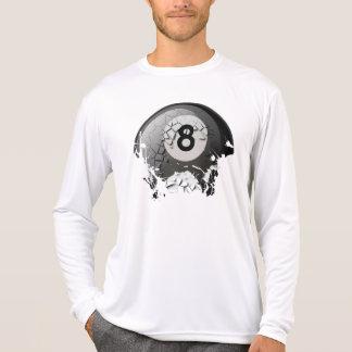 Bola 8 quebrada e rachada camiseta