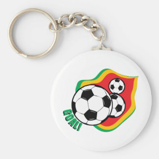 Bola & bandeira de futebol chaveiros