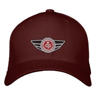 Bola-boné marrom com o logotipo bordado vermelho boné bordado