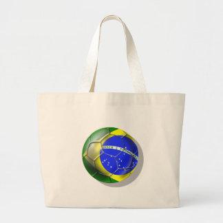 Bola brasileira da bandeira do futebol da samba de bolsas