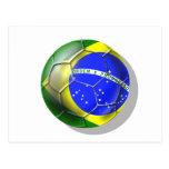 Bola brasileira da bandeira do futebol da samba de cartoes postais