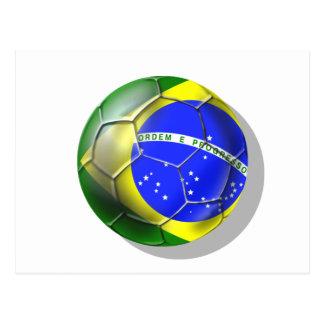 Bola brasileira da bandeira do futebol da samba de cartão postal
