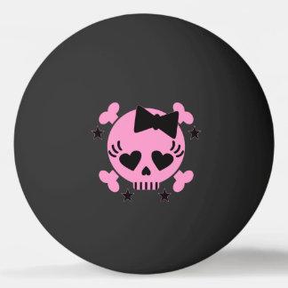 Bola cor-de-rosa de Pong do sibilo do preto do