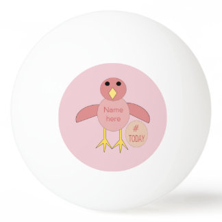 Bola cor-de-rosa feita sob encomenda de Pong do