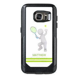 bola da raquete de tênis do jogador de ténis 3D