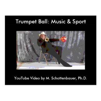 Bola da trombeta: Cartão 7 da música & do esporte