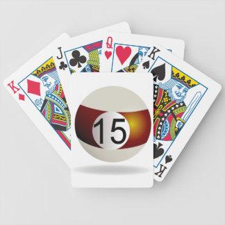 Bola de bilhar 15 baralhos de pôquer