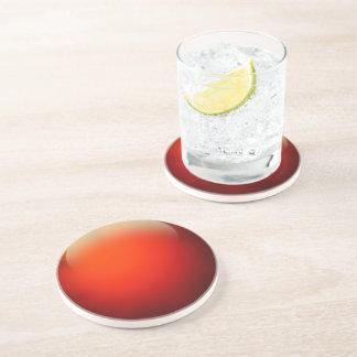Bola de cristal vermelha porta copos de arenito