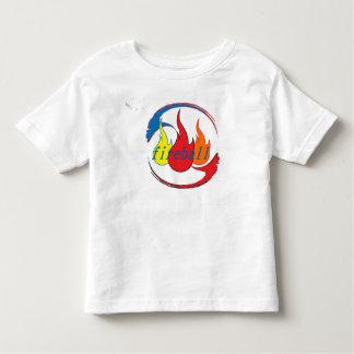 Bola de fogo camiseta infantil
