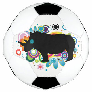 Bola de futebol abstrata do rinoceronte