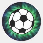 Bola de futebol adesivos em formato redondos
