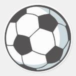 Bola de futebol adesivos redondos