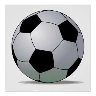 Bola de futebol americana do futebol de associação pôster