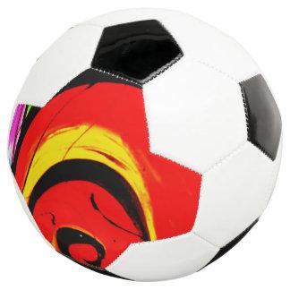 Bola De Futebol Arte abstracta vermelha do redemoinho