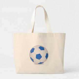 Bola de futebol azul bolsa de lona