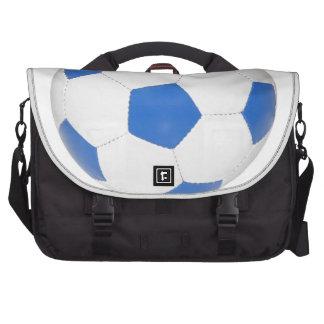 Bola de futebol azul mochila para laptop