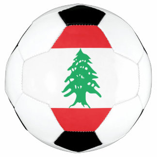 Bola De Futebol Bandeira de Líbano
