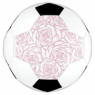 Bola De Futebol bonito, floral.pink, branco, peônias, femininos,