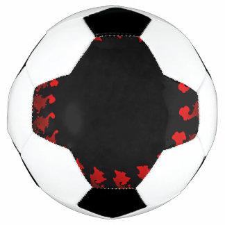 Bola De Futebol Branco preto vermelho do Fractal