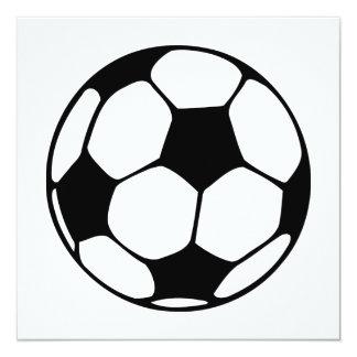 bola de futebol convite quadrado 13.35 x 13.35cm