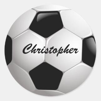 Bola de futebol customizável adesivos redondos