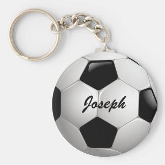 Bola de futebol customizável do futebol chaveiro