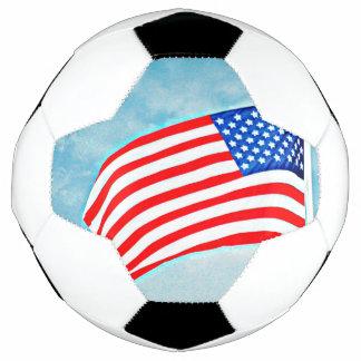Bola de futebol da bandeira americana