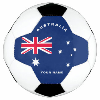 Bola de futebol da bandeira de Austrália